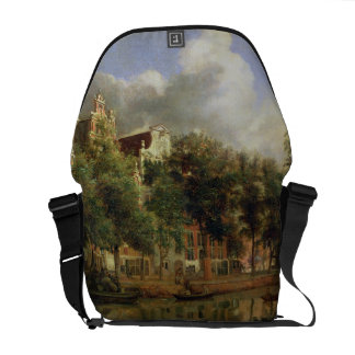 The Herengracht, Amsterdam (oil on panel) Courier Bag
