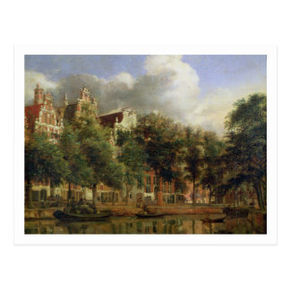 The Herengracht, Amsterdam (oil on panel) Postcard