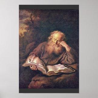 The Hermit By Koninck Salomon (Best Quality) Print