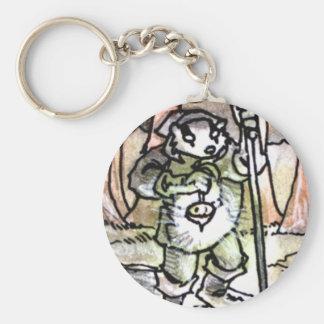 The Hermit Tarot Card Basic Round Button Keychain