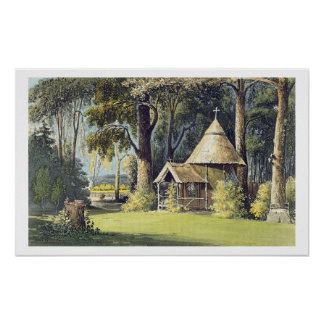 The Hermitage, from Ackermann's Repository of Arts Poster