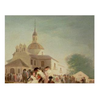 The Hermitage of San Isidro, Madrid, 1788 Postcard