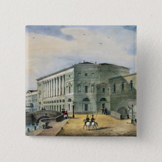 The Hermitage Theatre as Seen from Vassily Pinback Button