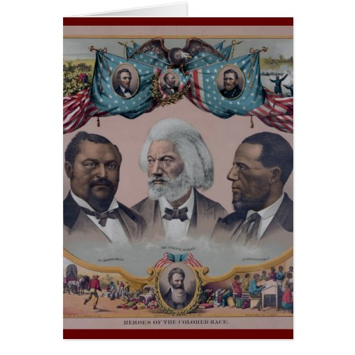 """""""The Heroes Of The Colored Race"""" Greeting Card"""