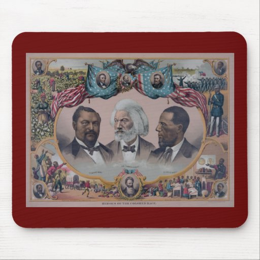 """""""The Heroes Of The Colored Race"""" Mouse Pad"""