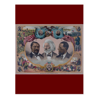 """""""The Heroes Of The Colored Race"""" Postcard"""