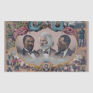 """""""The Heroes Of The Colored Race"""" Rectangular Sticker"""