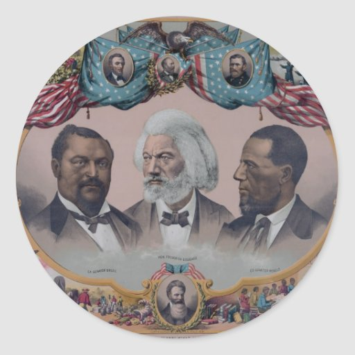 """""""The Heroes Of The Colored Race"""" Round Stickers"""