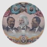 """The Heroes Of The Colored Race"" Classic Round Sticker"