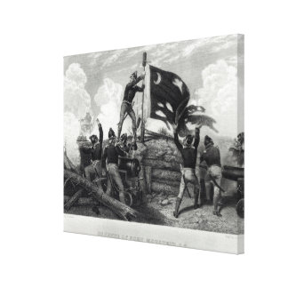 The Heroism of Sergeant William Jasper Canvas Print