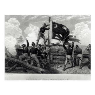 The Heroism of Sergeant William Jasper Postcard