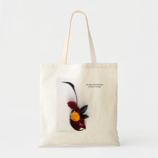 The Heron With Red Flowers by Robert E Meisinger Tote Bag