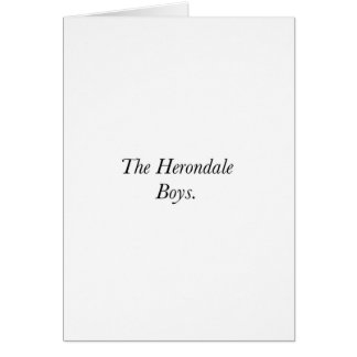 The Herondale Boys Cards