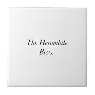 The Herondale Boys Ceramic Tiles