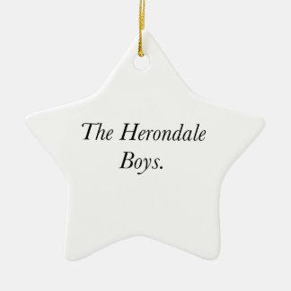 The Herondale Boys Christmas Tree Ornament
