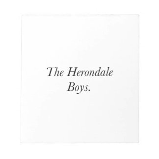 The Herondale Boys Memo Note Pad