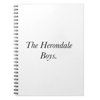 The Herondale Boys Spiral Notebooks