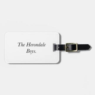 The Herondale Boys Travel Bag Tags
