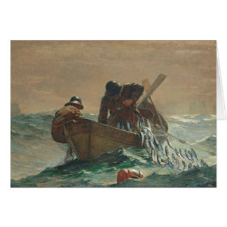 The Herring net, 1885 (oil on canvas) Card