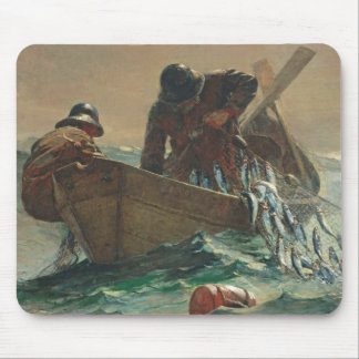The Herring net, 1885 (oil on canvas) Mouse Pad