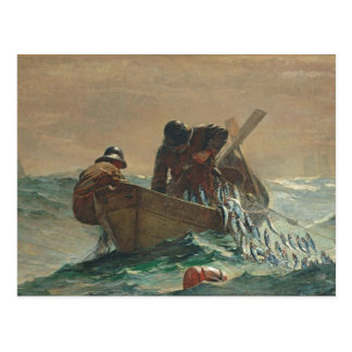 The Herring net, 1885 (oil on canvas) Postcard