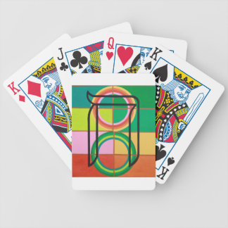The Het Letter - Hebrew alphabet Bicycle Playing Cards