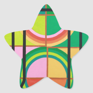 The Het Letter - Hebrew alphabet Star Sticker