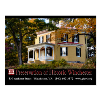 The Hexagon House in Fall Foliage Postcard