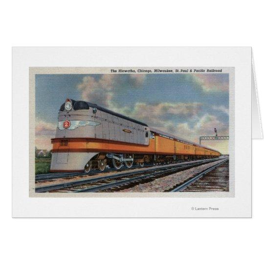 The Hiawatha #2 Railroad Train Card