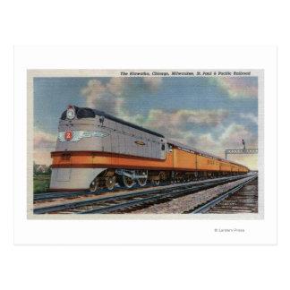 The Hiawatha #2 Railroad Train Postcard