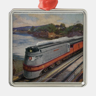 The Hiawatha Streamline Train Christmas Ornament