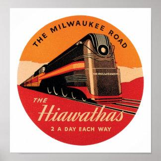 The Hiawathas Milwaukee Road Poster