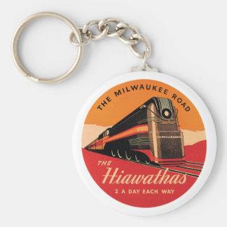 The Hiawathas Vintage Railroad Ad Keychain