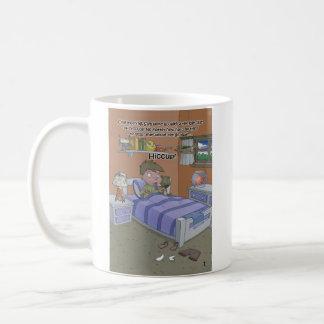 The Hiccup Book - mug - Sam wakes up