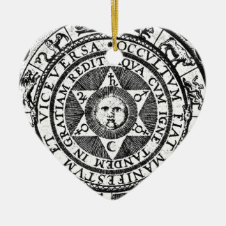 The Hidden Becomes Manifest Ceramic Heart Decoration
