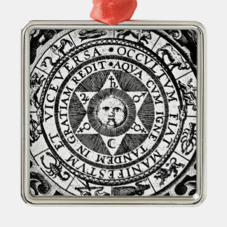 The Hidden Becomes Manifest Silver-Colored Square Decoration