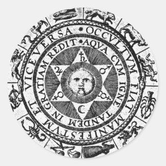 The Hidden Becomes Manifest Round Sticker