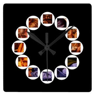 The Hidden Doni Tondo by Michelangelo Square Clock