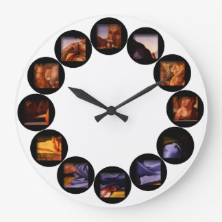 The Hidden Doni Tondo by Michelangelo Wall Clock