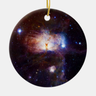 The Hidden Fires of the Flame Nebula NGC 2024 Ceramic Ornament