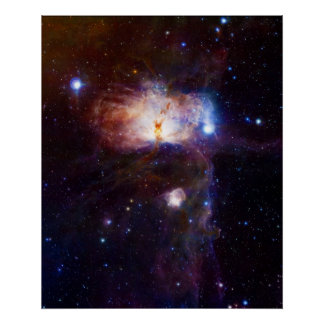 The Hidden Fires of the Flame Nebula NGC 2024 Posters
