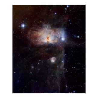 The hidden fires of the Flame Nebula Poster