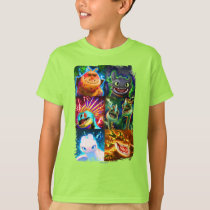 The Hidden World | Glowing Dragons Graphic T-Shirt