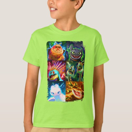 The Hidden World  Glowing Dragons Graphic T_Shirt