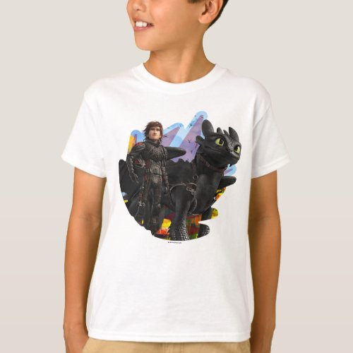 The Hidden World  Hiccup  Toothless In Armor T_Shirt