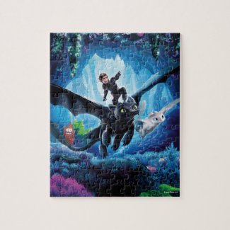 The Hidden World | Hiccup, Toothless, & Light Fury Jigsaw Puzzle