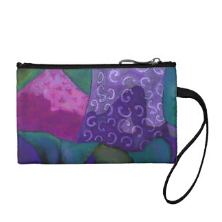 The Hideaway - Abstract Purple and Magenta Heaven Change Purse