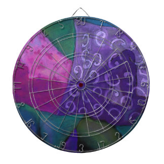 The Hideaway - Abstract Purple and Magenta Heaven Dartboards