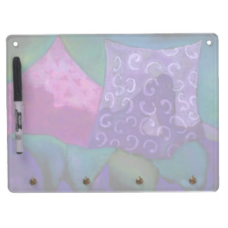 The Hideaway - Abstract Purple and Magenta Heaven Dry Erase Board With Keychain Holder