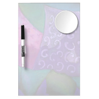 The Hideaway - Abstract Purple and Magenta Heaven Dry Erase Board With Mirror